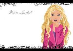 Barbie invitations