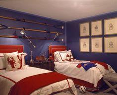 Recursos para cambiar de habitación: de niños a adolescentes – Deco Ideas Hogar Kids Bedroom, Bedroom Decor, Sibling Bedroom, Bedroom Ideas, Nursery Ideas, Coastal Bedrooms, Coastal Living, Red Bedding, Room Themes