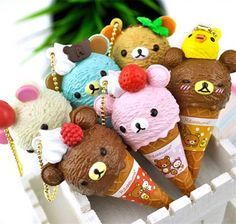 Rilakkuma Ice Cream Ballpoint Pens   CoolPencilCase.com   cutest thing ever. - Literally Me