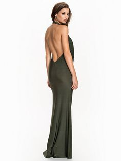 Cowl Neck Jersey Dress - Nly Eve - Green - Party Dresses - Clothing - Women - Nelly.com