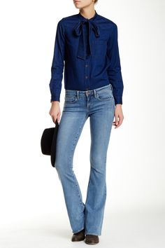 Denim on Denim.  Love these Fit & Flare Jeans
