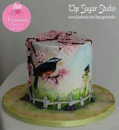 hand-painted cake