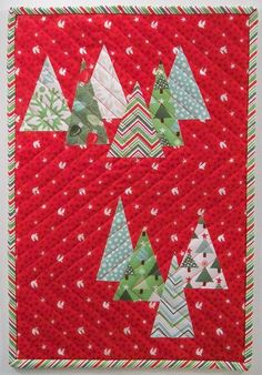 It's fun to have some special Christmas quilts to bring out and decorate with during the holidays.