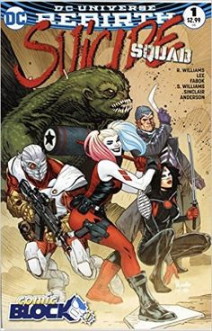 f66a270a4f0 Suicide Squad  Rebirth  1 - Exclusive Comic Block August 2016 Variant  Cover  Philip