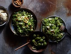 Our new favorite way to serve a classic holiday vegetable, this simple shaved brussels sprout salad is packed with flavor. Prep all the elements in advance so all you have to do is toss and season before serving.