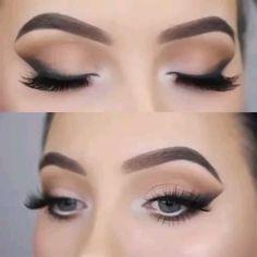 Eyebrow Makeup Tips, Smokey Eye Makeup Tutorial, Makeup Eye Looks, Eye Makeup Steps, Eye Makeup Art, Eyeshadow Makeup, Makeup Cosmetics, Smoky Eyeshadow, Dark Eye Makeup