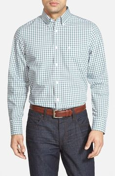 Nordstrom Smartcare™ Regular Fit Windowpane Sport Shirt available at #Nordstrom