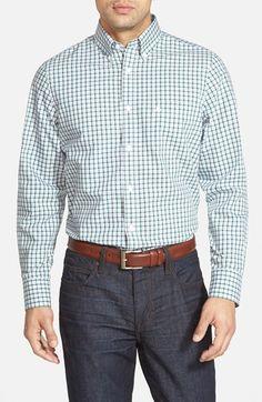 Nordstrom Smartcare™ Regular Fit Windowpane Sport Shirt available at #Nordstrom
