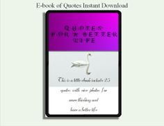 ebook quotes  quote for life  INSTANT by DigitalDownloadItems, $5.00