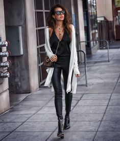 OOTN Striding into spring in lightweight layers and leather…always leather! FASHIONED|CHIC