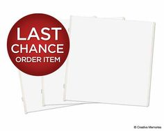 Last chance to order Creative Memories items like these White 12x12 Page Protectors is July 31! Contact me at cropportunities @ gmail [dot] com to ensure you are all set!