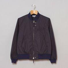 Engineered Garments Aviator Jacket Dark Navy Cotton Dobby Twill