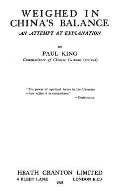 Paul King's history of missionary work in China includes a survey of China's history before the Nestorians first brought Christianity there in the 8th century. It goes on to describe the growth of the church up to the early 20th Century. My thanks to Redcliffe College for providing me with a copy of this book ... Read more...