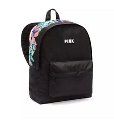 Victoria's Secret Pink Mini Backpack Black for sale online Girly Backpacks, Pretty Backpacks, Cute Backpacks For School, Cute Mini Backpacks, Stylish Backpacks, Backpack For Teens, Small Backpack, Backpack Purse, Black Backpack