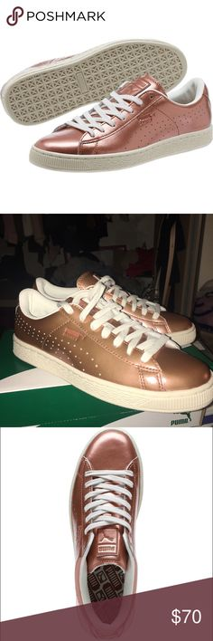 5ad5c664ffcf Selling this Puma Basket Classic Citi Metallic on Poshmark! My username is   kittykat   .