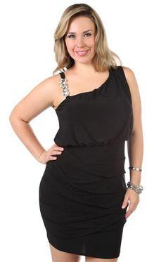 9d83cfcb28 plus size cold shoulder rhinestone accent tight club dress