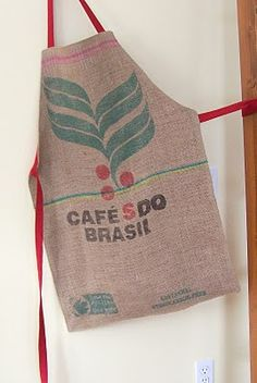 Crafty Coffee Bag Apron Representing my country! :)