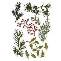 Thinlits - Holiday Greens Mini - 11 pcs - Tim Holtz