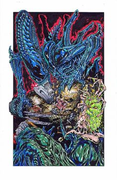 Alien VS Predator by Daniel Campos Comic Art