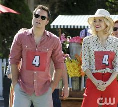 """The Race and the Relationship"" - Pictured (L-R): Scott Porter as George and Jaime King as Lemon in HART OF DIXIE on THE CW. Photo: Michael Yarish/The CW 2012 The CW Network. All Rights Reserved."