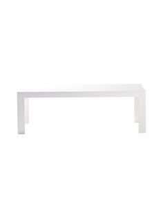 Tokujin Yoshiokan suunnittelema linjakas pöytä sopii vaativankin sisustajan makuun. Materiaali on kestävää akryylia. Mitat ovat 120 x 40 x 40 cm. White Interiors, Home, Products, Ad Home, Homes, Haus, Gadget, Houses