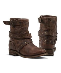 Look what I found on #zulily! Rust Nena Leather Ankle Boot by Black Star #zulilyfinds