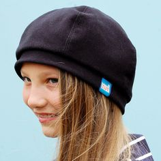 Black French beret Womens winter cap ZUTmarie-claire 5 by ZUTusine