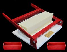 Soap Cutter + 2 RED Silicone Soap Molds