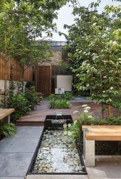 Modern Landscape Design, Modern Garden Design, Modern Landscaping, Backyard Landscaping, Contemporary Design, Landscaping Design, Backyard Ideas, Modern Japanese Garden, Backyard Playground