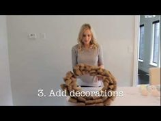 How To Make A Burlap Wreath - Easter Edition - YouTube.  This can be done for any burlap wreath--just add the decorations you want.  Good video!