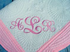 Personalized baby quilt personalized quilt baptismal quilt personalized baby quilt personalized quilt baptismal quilt christening quilt baby quilt quilt monogram quilt baby blanket baby gift by prec negle Image collections