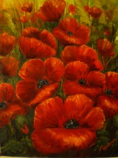 poppy painting | poppies oil painting by isikay traditional art paintings still life ...