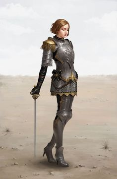 Those heels are rather unreasonable for fighting, but they don't look bad (and maybe she isn't running around), and at least her chest is covered in armor.