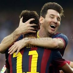 Neymar Jr and Messi FC Barcelona vs Real Madrid