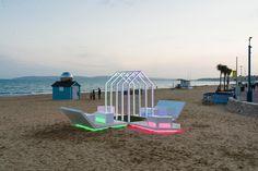 Light pods made of #MediteTricoya at Bournemouth Gardens of Light event