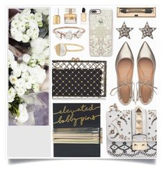 """""""Just Why"""" by racanoki ❤ liked on Polyvore featuring Sephora Collection, Valentino, Sigerson Morrison, Charlotte Olympia, Casetify, Witchery, Latelita, Kataoka, Essie and Givenchy"""