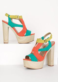 I'm lovin the chunky heel and color combo