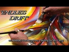 Abstract Painting demonstration with acrylic paint - Simple with nice colors - Magnolia - YouTube