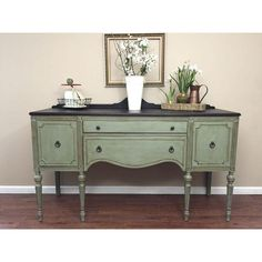 Image of Antique Federal Style Sideboard Buffet