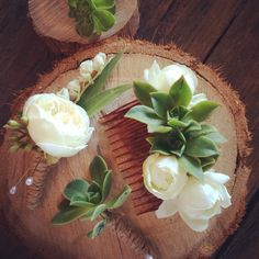 Bendooley Bookbarn ~ a beautiful and unique wedding. Gorgeous succulents, David Austin roses, timber rounds and cloches. The cutest rustic buttonholes, corsages and hair flowers. We love Southern Highland weddings!