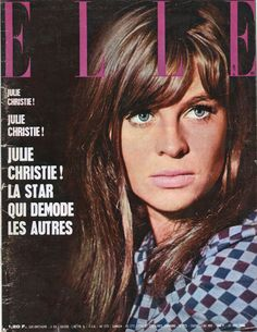 Julie Christie on the Cover of Elle, 1966, Photo by David Steen.