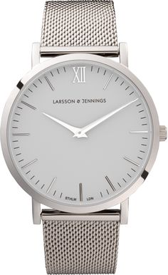 Larrson Jennings Silver Watch - https://www.larssonandjennings.com/shop/liten/liten-silver-womens-watch/currency/usd?gclid=CLW96d6rzckCFUZcfgodL9YJeg