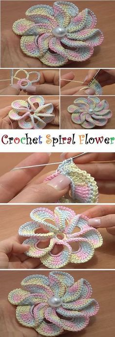 Captivating All About Crochet Ideas. Awe Inspiring All About Crochet Ideas. Flower Motif, Crochet Puff Flower, Crochet Flower Tutorial, Crochet Flower Patterns, Crochet Flowers, Crochet Designs, Crochet Baby Shoes, Love Crochet, Crochet Gifts
