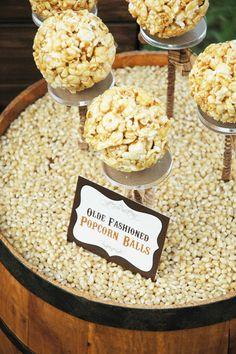 STYLING | Rustic Popcorn Bar