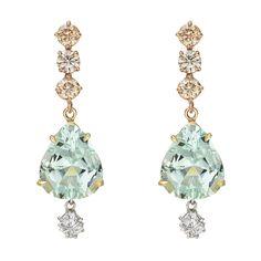 Paolo Costagli Mint Tourmaline & Diamond Earring Pendants