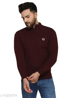 Checkout this latest Sweaters Product Name: *Kvetoo Maroon Round Neck Sweater Single* Fabric: Acrylic Sleeve Length: Long Sleeves Pattern: Printed Multipack: 1 Sizes: S, M (Chest Size: 27 in, Length Size: 38 in)  L (Chest Size: 27 in, Length Size: 40 in)  Country of Origin: India Easy Returns Available In Case Of Any Issue   Catalog Rating: ★4.2 (757)  Catalog Name: Urbane Graceful Men Sweaters CatalogID_1854304 C70-SC1208 Code: 084-10236714-069