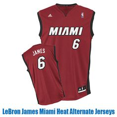 LeBron James Miami Heat Alternate Jerseys