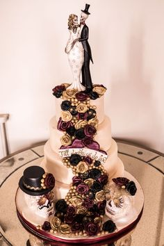 Wedding cake, day of the dead, skeletons, Aynhoe Park
