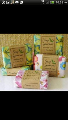 Soap Gourmet in Irvine, CA wraps her homemade soaps in our printed tissue paper. Soaper of the Week - Desert Soapstone. Handmade Soap Packaging, Simple Packaging, Pretty Packaging, Handmade Soaps, Packaging Ideas, Diy Soaps, Homemade Gifts, Diy Gifts, Homemade Bar
