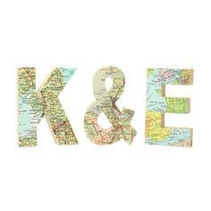 Location Wooden Map Letters - Set of 3